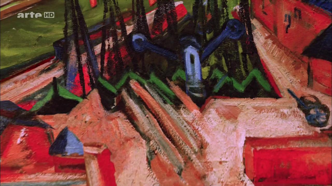«Francfort, le port de l'Ouest», 1916, Ludwig Kirchner